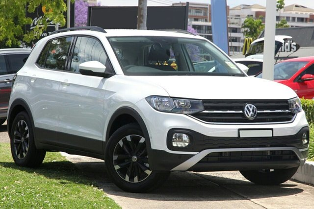 New Volkswagen T-Cross C1 MY21 85TSI DSG FWD Life Port Melbourne, 2021 Volkswagen T-Cross C1 MY21 85TSI DSG FWD Life White 7 Speed Sports Automatic Dual Clutch Wagon