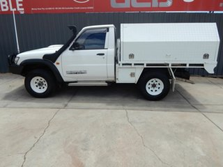 2004 Nissan Patrol GU II ST White 5 Speed Manual Cab Chassis.