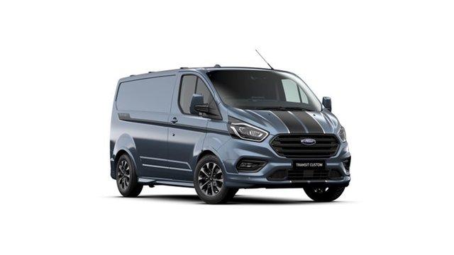 New Ford Transit Custom VN 2021.25MY 320S (Low Roof) Sport Beaudesert, 2021 Ford Transit Custom VN 2021.25MY 320S (Low Roof) Sport Blue Metallic 6 Speed Automatic Van