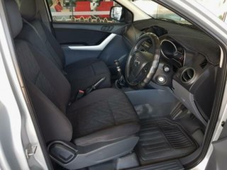 2012 Mazda BT-50 UP0YD1 XT 4x2 Silver 6 Speed Manual Cab Chassis