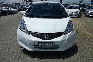 2012 Honda Jazz GE MY12 Vibe Antartic White 5 Speed Automatic Hatchback.