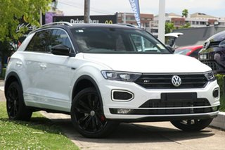 2020 Volkswagen T-ROC A1 MY20 140TSI DSG 4MOTION X Pure White & Flash Red 7 Speed.