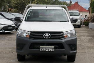 2018 Toyota Hilux TGN121R Workmate 4x2 Glacier White 6 Speed Automatic Cab Chassis