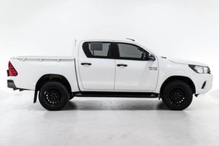 2018 Toyota Hilux GUN136R SR Double Cab 4x2 Hi-Rider White 6 Speed Sports Automatic Utility