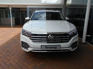 2019 Volkswagen Touareg CR MY20 190TDI Tiptronic 4MOTION Premium Pure White 8 Speed Sports Automatic.