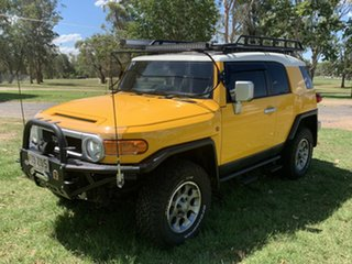 2012 Toyota FJ Cruiser GSJ15R Hornet Yellow & White Roof 5 Speed Automatic Wagon.