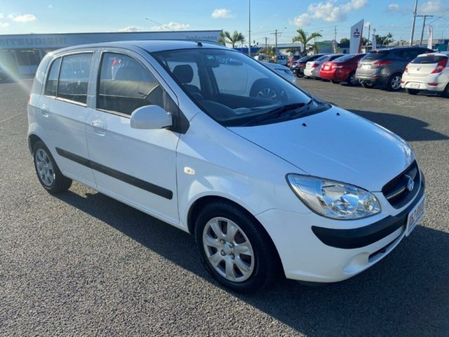Used Hyundai Getz TB MY09 S Gladstone, 2010 Hyundai Getz TB MY09 S White 5 Speed Manual Hatchback