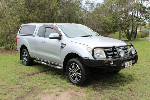 Used Ford Ranger PX XLT Super Cab Ormeau, 2012 Ford Ranger PX XLT Super Cab Silver 6 Speed Manual Utility