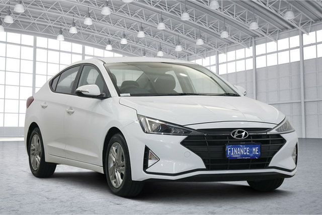 Used Hyundai Elantra AD.2 MY20 Active Victoria Park, 2020 Hyundai Elantra AD.2 MY20 Active Polar White 6 Speed Sports Automatic Sedan