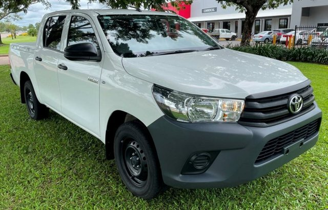 Used Toyota Hilux GUN122R Workmate Double Cab 4x2 Winnellie, 2018 Toyota Hilux GUN122R Workmate Double Cab 4x2 White 5 Speed Manual Utility