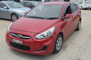 2015 Hyundai Accent RB2 MY15 Active Red 4 Speed Sports Automatic Hatchback.