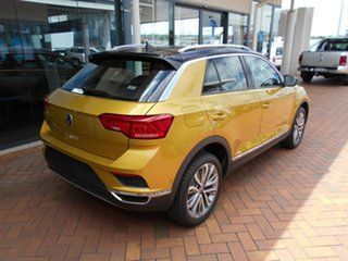 2020 Volkswagen T-ROC A1 MY21 110TSI Style Curcuma Yellow & Black Roof 8 Speed Sports Automatic