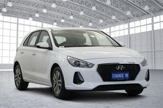 2020 Hyundai i30 PD2 MY20 Active Polar White 6 Speed Sports Automatic Hatchback.
