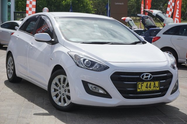 Used Hyundai i30 GD3 Series II MY16 Active Phillip, 2015 Hyundai i30 GD3 Series II MY16 Active White 6 Speed Sports Automatic Hatchback
