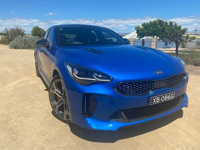 Used Kia Stinger CK MY18 GT Fastback Christies Beach, 2017 Kia Stinger CK MY18 GT Fastback Blue 8 Speed Sports Automatic Sedan