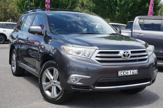 2012 Toyota Kluger GSU45R MY12 KX-S AWD Grey 5 Speed Sports Automatic Wagon.