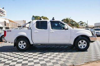 2011 Nissan Navara D40 ST White 5 Speed Automatic Utility