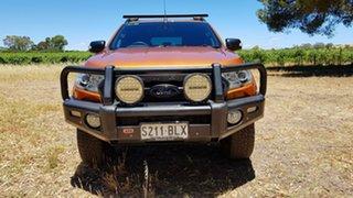 2016 Ford Ranger PX MkII Wildtrak Double Cab Pride Orange 6 Speed Sports Automatic Utility.