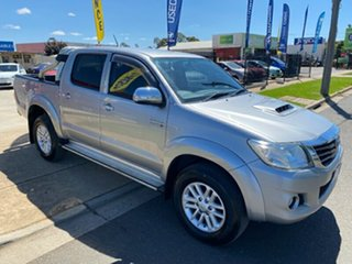 2015 Toyota Hilux KUN26R MY14 SR5 Double Cab Silver 5 Speed Automatic Utility.