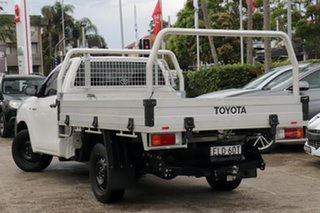 2018 Toyota Hilux TGN121R Workmate 4x2 Glacier White 6 Speed Automatic Cab Chassis.