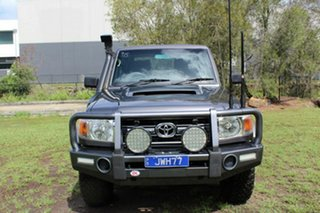 2014 Toyota Landcruiser VDJ79R GXL Double Cab Grey 5 Speed Manual Cab Chassis.
