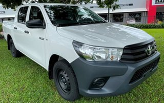 2019 Toyota Hilux GUN122R Workmate Double Cab 4x2 White 5 Speed Manual Utility.