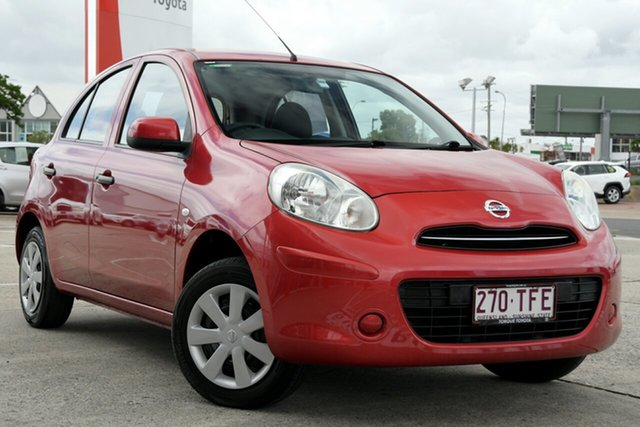 Pre-Owned Nissan Micra K13 MY13 ST Albion, 2012 Nissan Micra K13 MY13 ST Red 5 Speed Manual Hatchback
