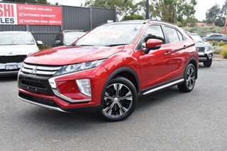 2017 Mitsubishi Eclipse Cross YA MY18 Exceed 2WD Red/Black 8 Speed Constant Variable Wagon.
