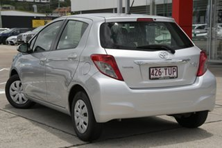 2013 Toyota Yaris NCP130R YR Silver Pearl 5 Speed Manual Hatchback