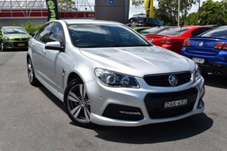 2014 Holden Commodore VF MY14 SV6 Silver 6 Speed Sports Automatic Sedan.