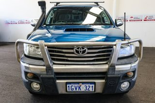 2012 Toyota Hilux KUN26R MY12 SR5 (4x4) Tidal Blue 4 Speed Automatic Dual Cab Pick-up.