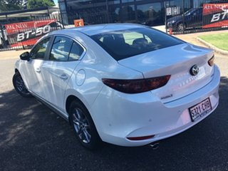 2020 Mazda 3 BP2S7A G20 SKYACTIV-Drive Pure White Pearl 6 Speed Sports Automatic Sedan