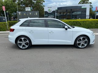 2014 Audi A3 8V MY15 Attraction Sportback S Tronic White 7 Speed Sports Automatic Dual Clutch