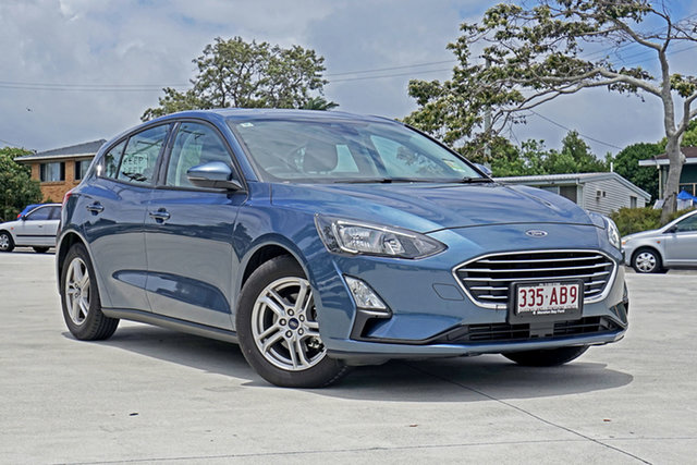 Used Ford Focus SA 2019.75MY Trend Capalaba, 2019 Ford Focus SA 2019.75MY Trend Blue Metallic 8 Speed Automatic Hatchback