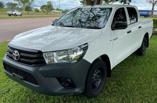 2019 Toyota Hilux GUN122R Workmate Double Cab 4x2 White 5 Speed Manual Utility