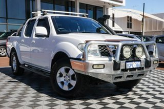 2011 Nissan Navara D40 ST White 5 Speed Automatic Utility.