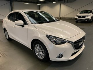 2017 Mazda 2 DJ2HA6 Maxx SKYACTIV-MT White 6 Speed Manual Hatchback.