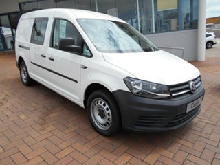 2020 Volkswagen Caddy 2KN MY20 TSI220 Crewvan Maxi DSG Candy White 7 Speed.