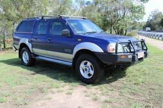 2002 Nissan Navara D22 MY2002 ST-R Blue 5 Speed Manual Utility.