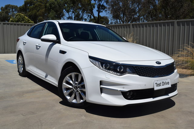 Used Kia Optima JF MY17 SI Echuca, 2017 Kia Optima JF MY17 SI White 6 Speed Sports Automatic Sedan