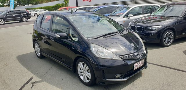 Used Honda Jazz GE MY12 Vibe-S Mount Gravatt, 2012 Honda Jazz GE MY12 Vibe-S Black 5 Speed Automatic Hatchback