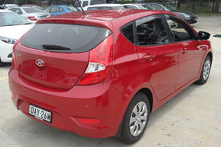 2015 Hyundai Accent RB2 MY15 Active Red 4 Speed Sports Automatic Hatchback
