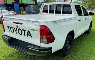 2018 Toyota Hilux GUN122R Workmate Double Cab 4x2 White 5 Speed Manual Utility.