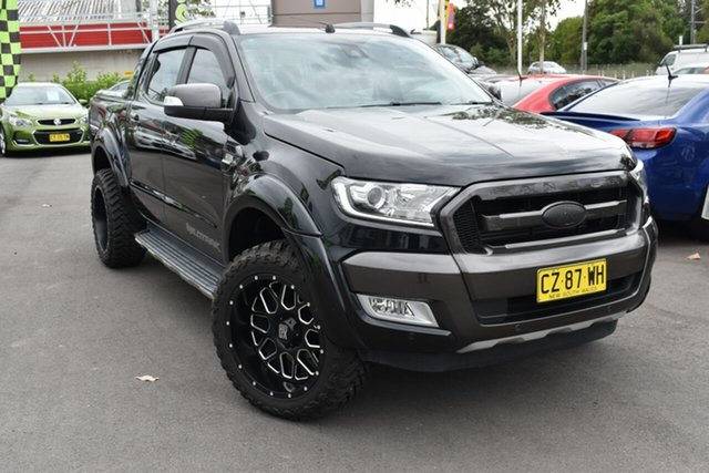 Used Ford Ranger PX MkII Wildtrak Double Cab Tuggerah, 2016 Ford Ranger PX MkII Wildtrak Double Cab Black 6 Speed Sports Automatic Utility