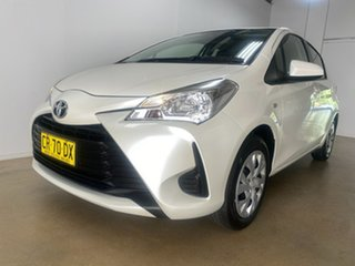 2018 Toyota Yaris NCP130R MY17 Ascent White 4 Speed Automatic Hatchback.