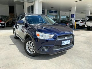 2010 Mitsubishi ASX XA MY11 2WD Blue 6 Speed Constant Variable Wagon.