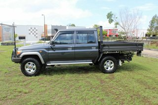 2014 Toyota Landcruiser VDJ79R GXL Double Cab Grey 5 Speed Manual Cab Chassis