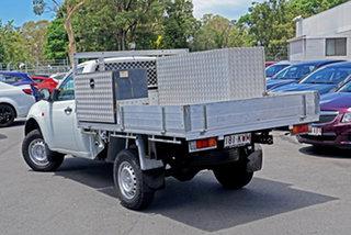 2007 Mitsubishi Triton ML MY08 GLX 4x2 White 5 Speed Manual Cab Chassis.