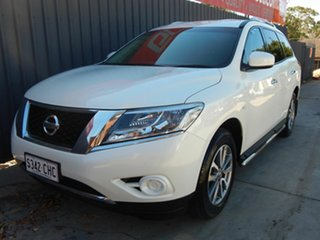 2016 Nissan Pathfinder R52 MY16 ST X-tronic 2WD White 1 Speed Constant Variable Wagon.