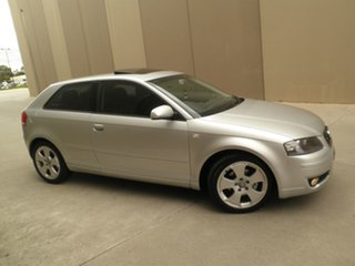 2004 Audi A3 8P Ambition Tiptronic Silver steel 6 Speed Sports Automatic Hatchback